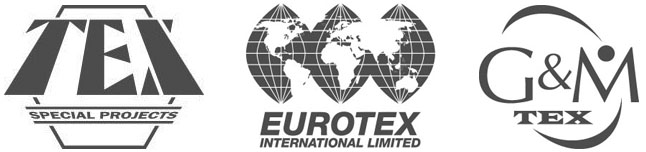The logos of Eurotex, Tex Special Projects and G&M Tex. Marine diesel refurbishment, bespoke generators for marine and offshore, specialist glazing and flying control rooms for marine vessels